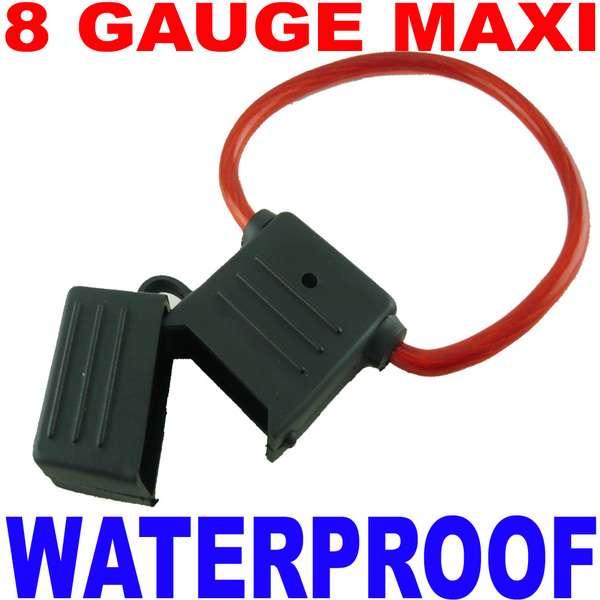 Maxi fuse holder 8 gauge