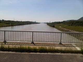 Wien - pogled s mosta na kraju Donauinsela na Dunav prema jugu